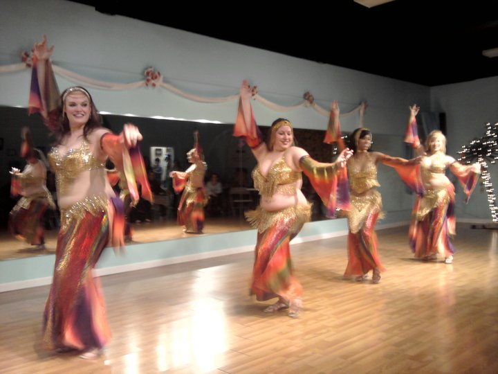 March 2011 hafla performance by Habeeba's elite troupe, Danse Orientale.